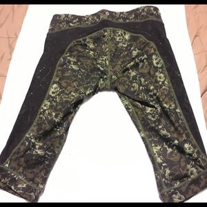 Lululemon Athletica Stop At Nothing Crop Camo